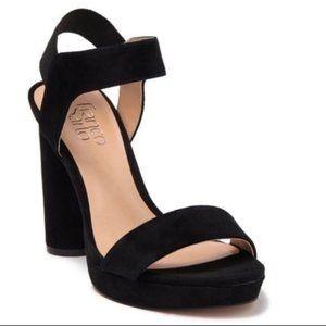 Franco Sarto Noa Leather Suede Platform Sandals